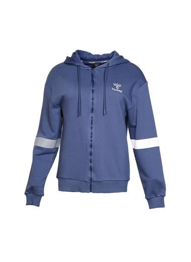 Hummel Kadın Zip Hoodie Laurel 920552-7374 Mavi